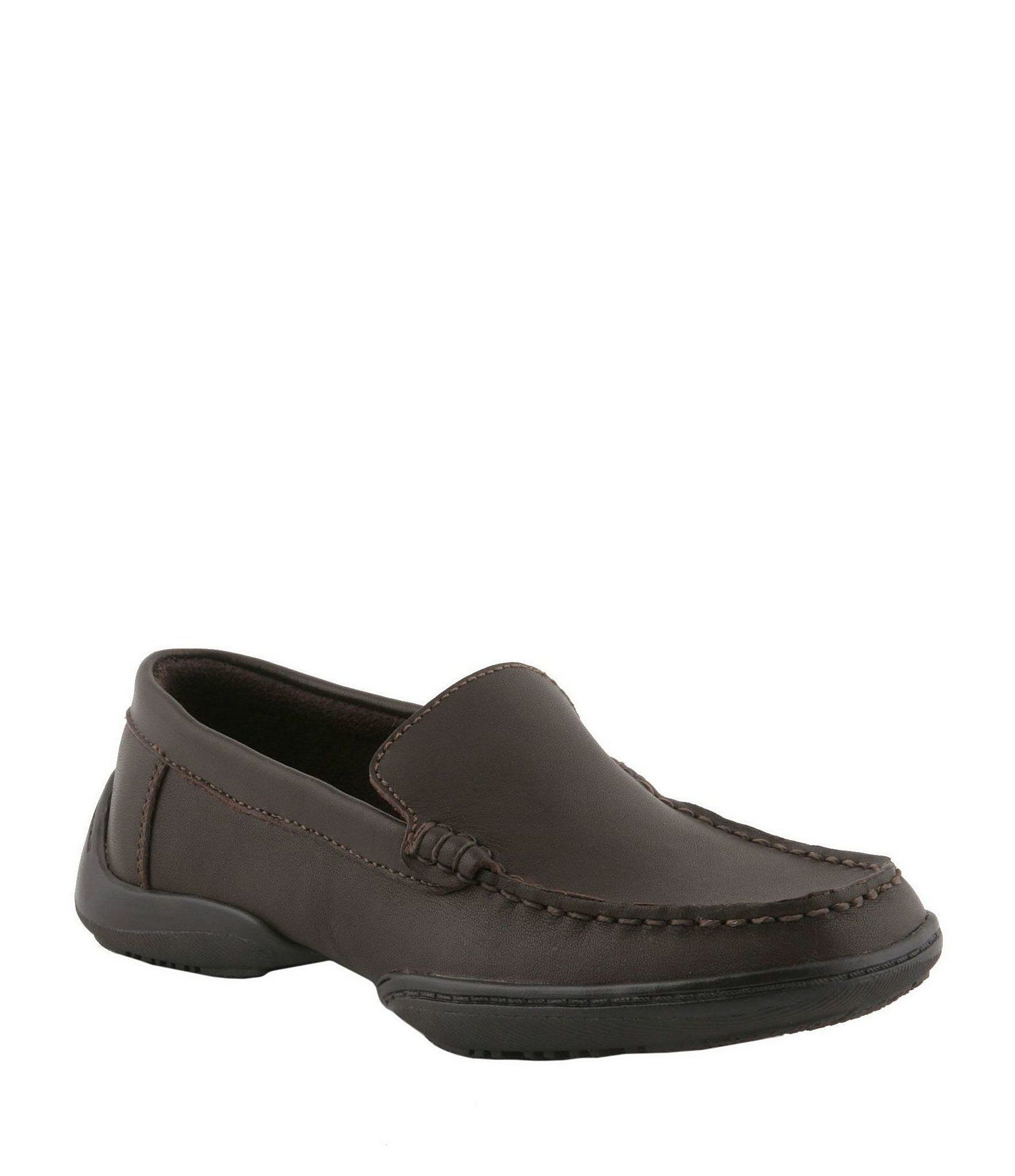 Kenneth Cole Reaction Boys' Driving Dime Dress Shoes – Dark Brown 11M Toddler