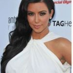 Kim Kardashian's Elegant Wavy Hairstyle