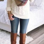 Knee High Boots Casual Outfits With Jeans