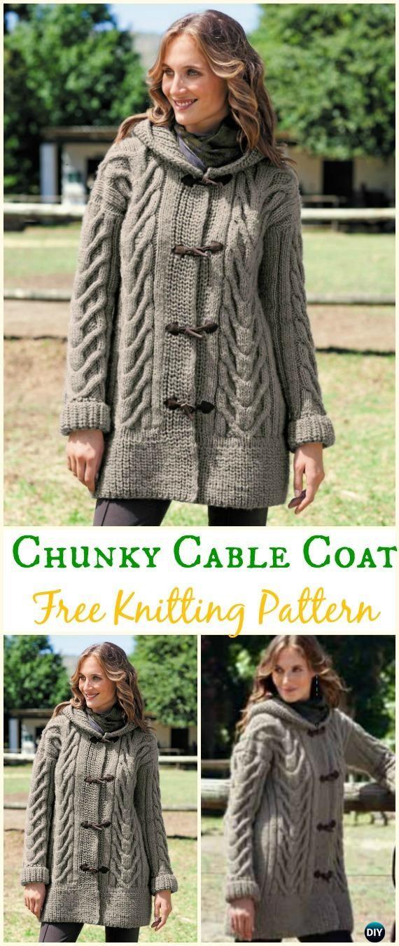 Knit Women Cardigan Sweater Coat Free Patterns
