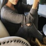 Kourtney Kardashian: Bracelet – Cartier  Jeans – J Brand  Shoes – Saint La...
