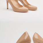LK Bennett Stila nude patent pumps / court shoes Worn once. Almost new – only ...