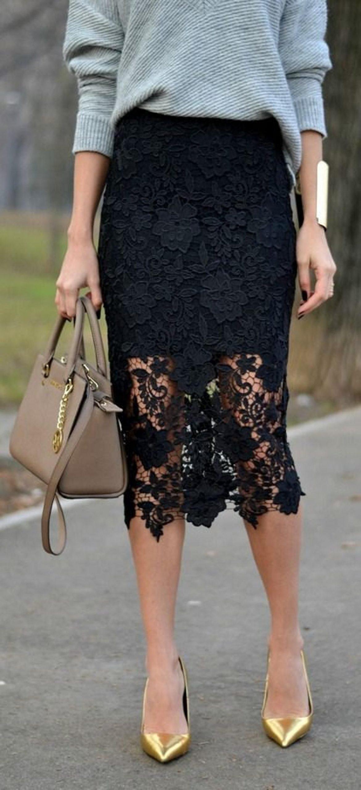 Lace skirt, ivory skirt , black skirt, white skirt