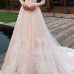 Lace wedding dress tulle wedding dress,long sleeves bridal dress off shoulder wedding dress