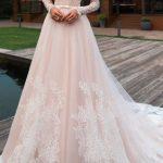 Lace wedding dress tulle wedding dress,long sleeves bridal dress off shoulder wedding dress