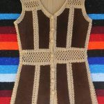 Ladies Vintage Crochet and Cable Knit Vest Stunning vintage women's vest perfect...