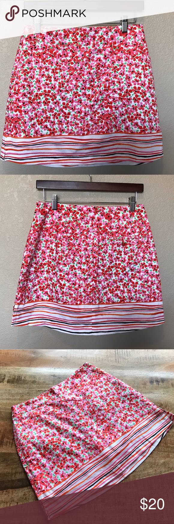 Lady Hagen pink orange flowers tennis skirt 2 XSmall  Shorts   Good condition no…