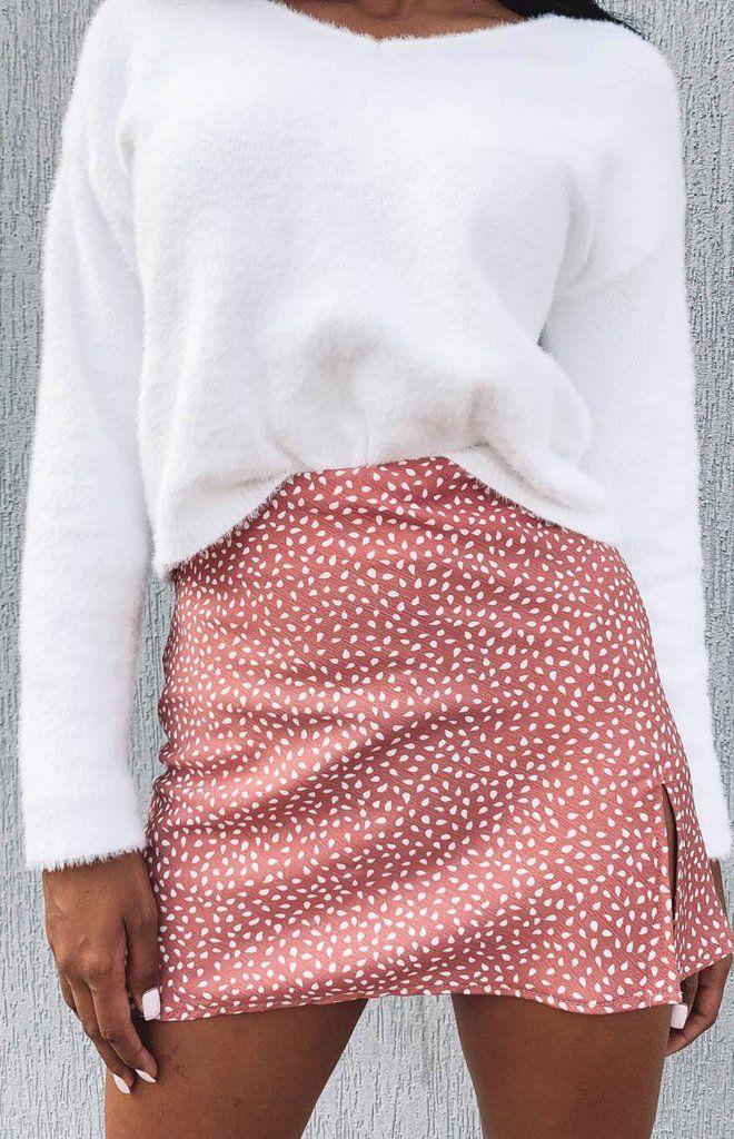 Laura Skirt Blush Print – 6
