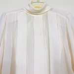 Laura and Jayne ivory plaided blouse longsleeve 8 Vintage Laura and Jayne ivory ...