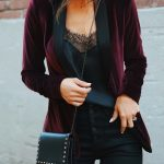 Layer your lacey cami with a luxe velvet blazer for #LTKholidaystyle with a twis...