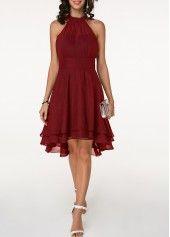 Layered Black Cutout Back Sleeveless Chiffon Dress | liligal.com – USD $31.85