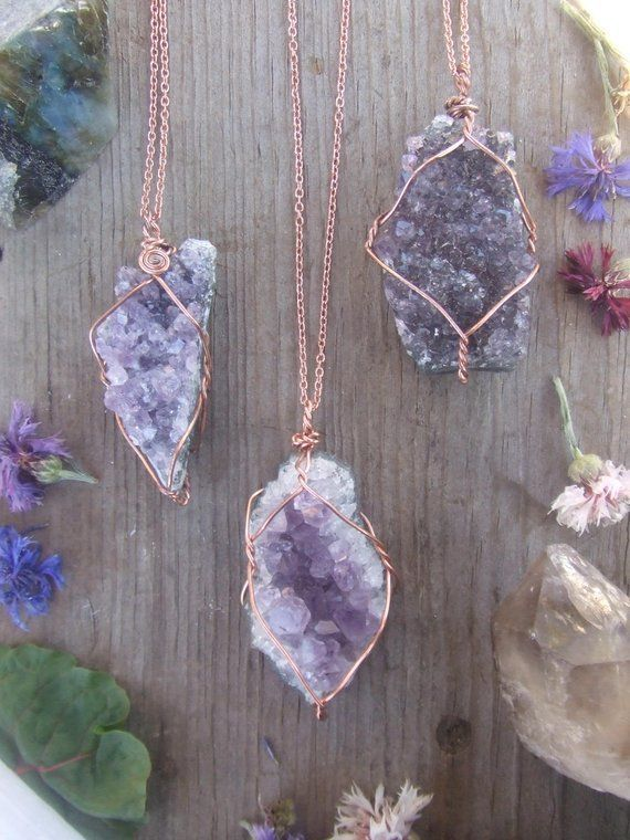 Layering Crystal Gold Necklace Rough Stone