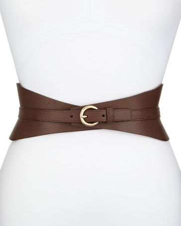 Leather Corset Belt, Brown