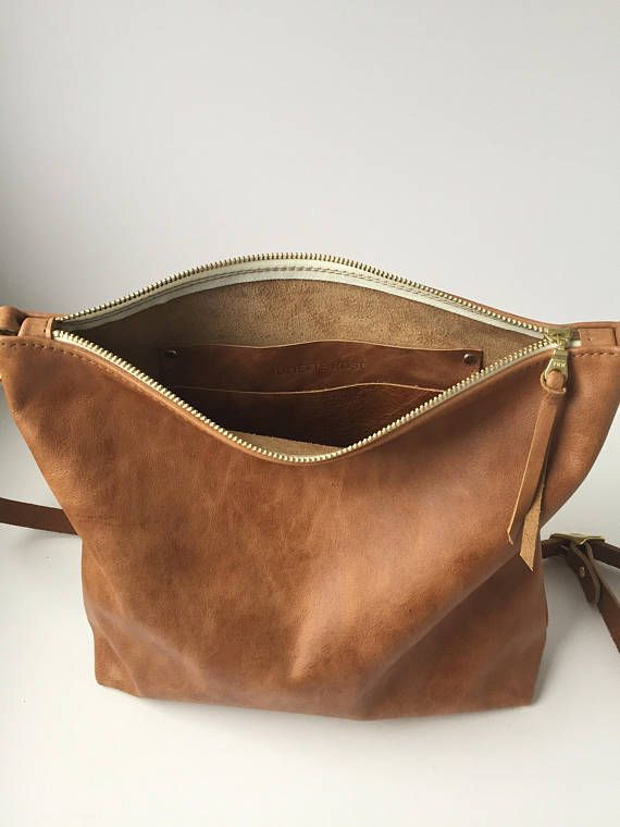Leather Crossbody Bag, Leather purse, Leather Hobo Bag, Brown leather bag