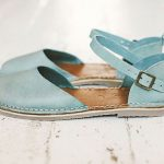 Leather Sandals, Women Sandals, Leather Flats, Summer Shoes, Slingback Sandals, Blue Leather Sandals, Casual Sandals, New Leather Sandals