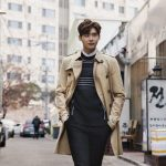 Lee Jong Suk and Han Hyo Joo turn the streets into a runway in stylish trench co...