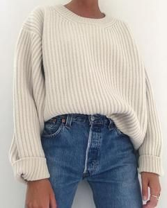 Leisure Pure Color Round Collar Knitted Sweater