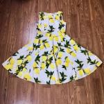 Lemon sundress, L So much lemon pretty in one place. Wear it with your short str...