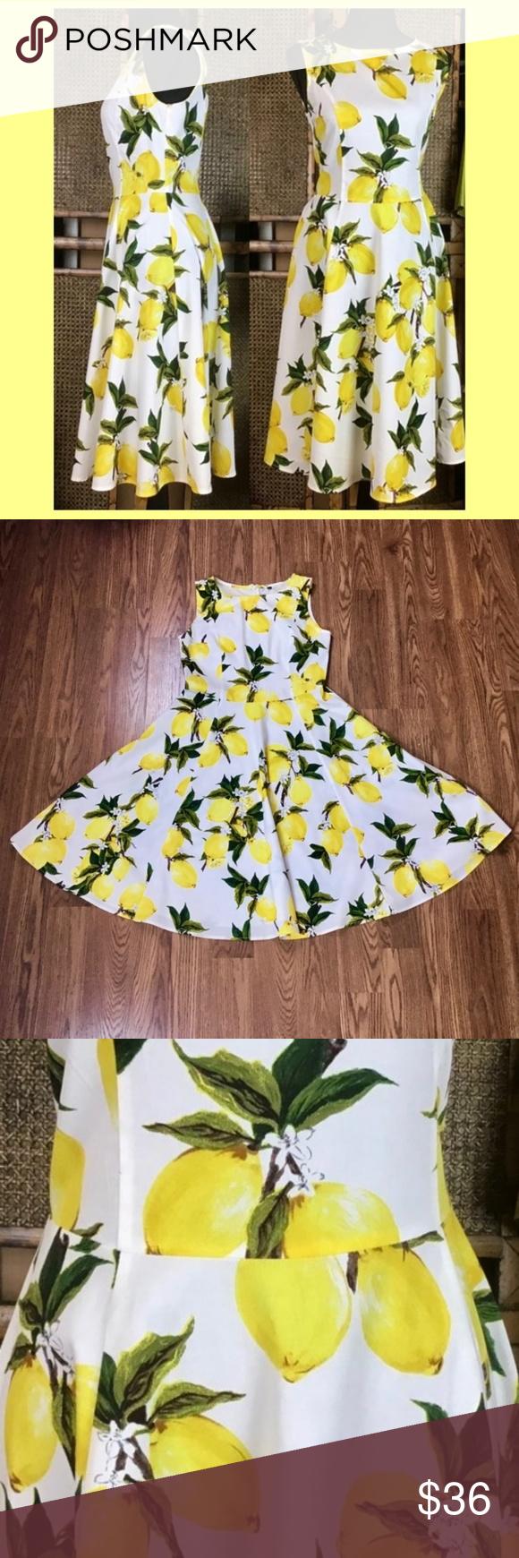Lemon sundress, L So much lemon pretty in one place. Wear it with your short str…