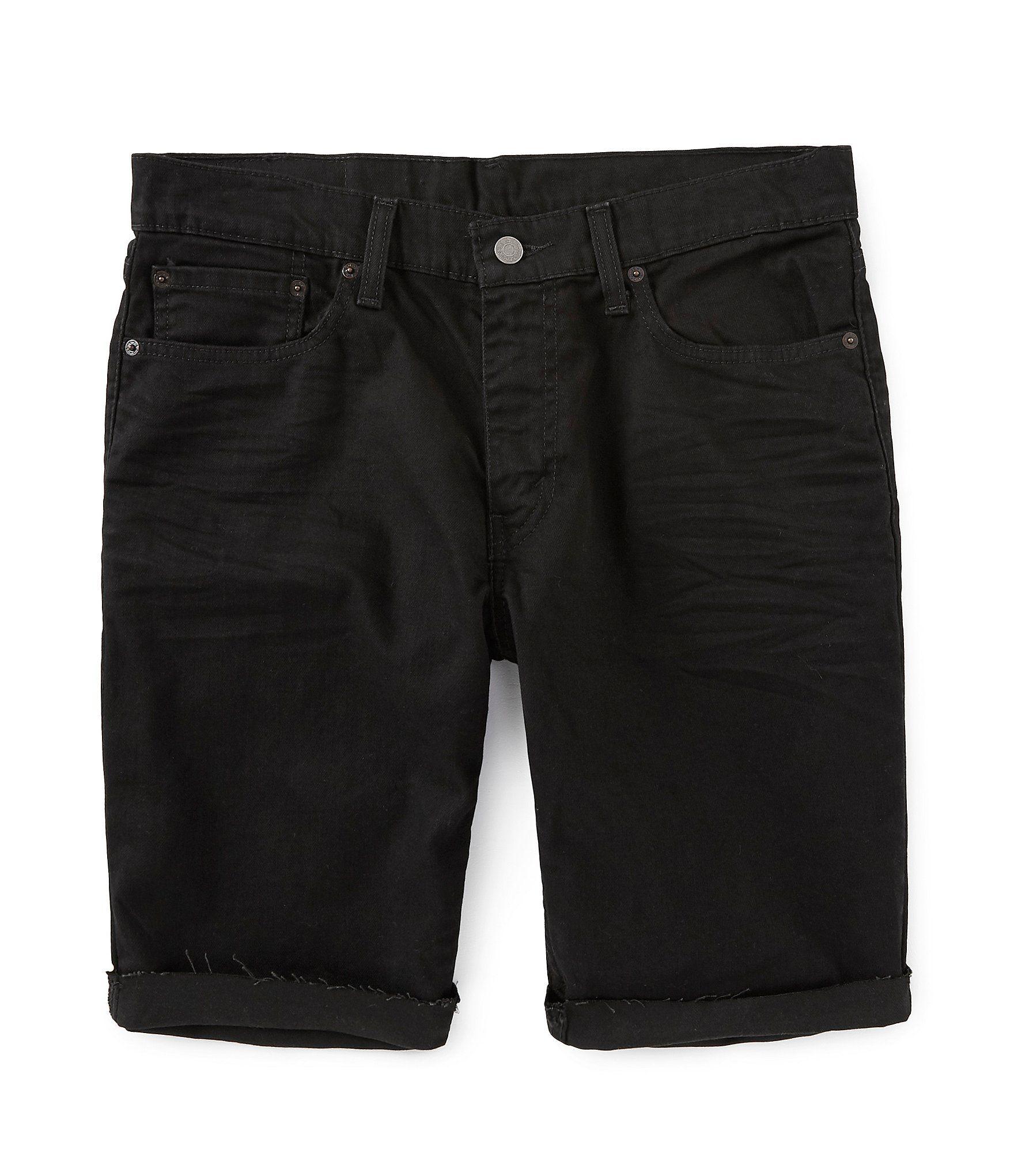 Levi's® 511 Slim Fit 12 Inseam Cut Off Jean Shorts – Black 31
