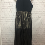 Like New: GAP Black & Metallic Gold Pleated Dress