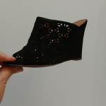 Linea Paolo beautiful laser cut suede sandal Linea Paolo Laser cut  no material ...