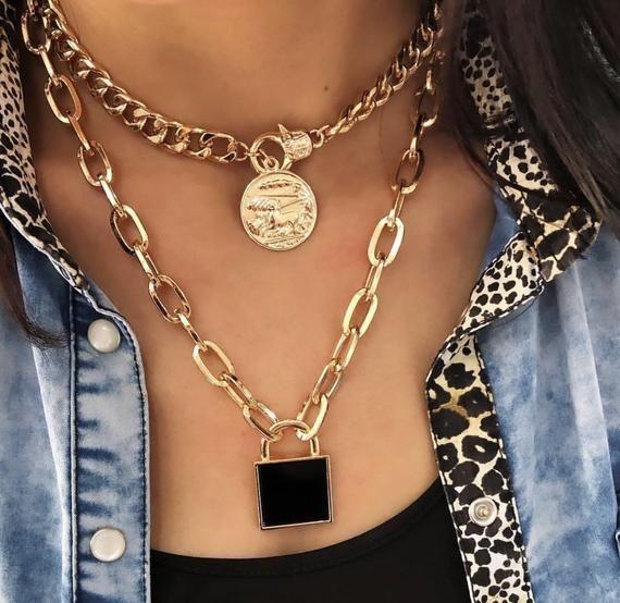 Lock Dizayn Necklace Crystal Accessory – Women Necklace Handmade Lock Crystal Design Wonder – New Tr