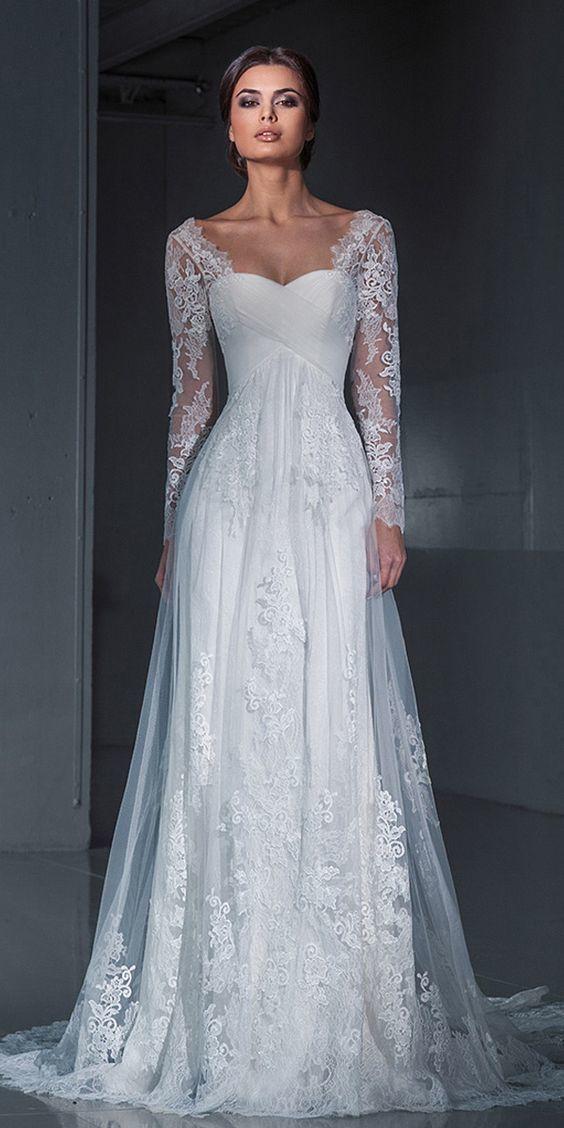 Long Sleeve Formal Lace Wedding Dresses, Bridal Dresses