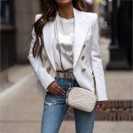 Long Sleeve Solid Color Lapel Blazer