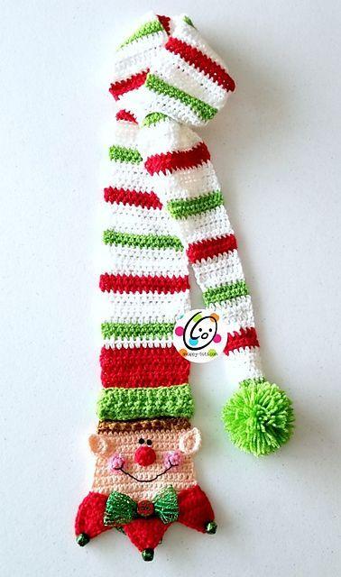 Long Tail Snappy Elf Scarf pattern by Heidi Yates