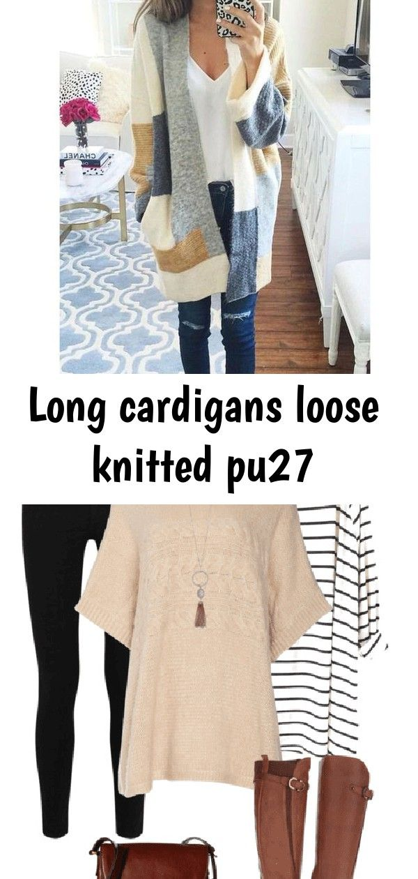 Long cardigans loose knitted pu27