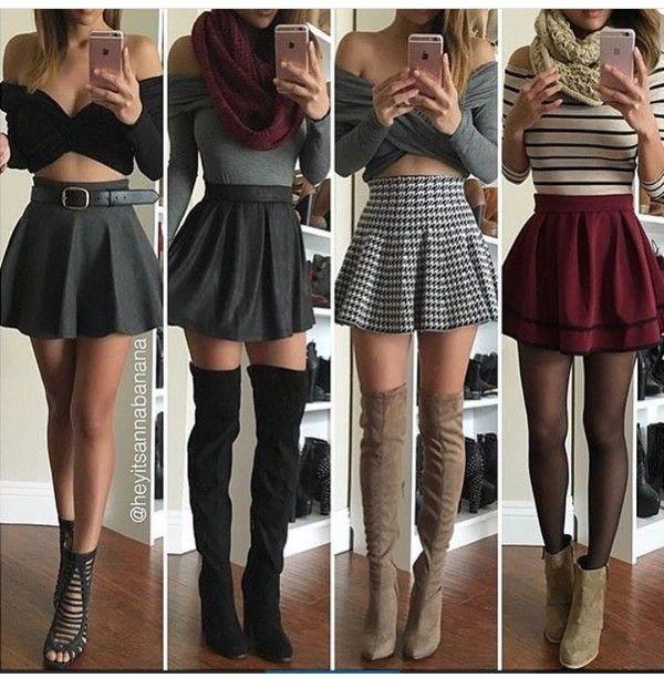 Longer burgundy layered skirt would be cute!!