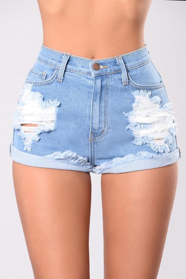 Longest Summer Denim Shorts – Medium Blue
