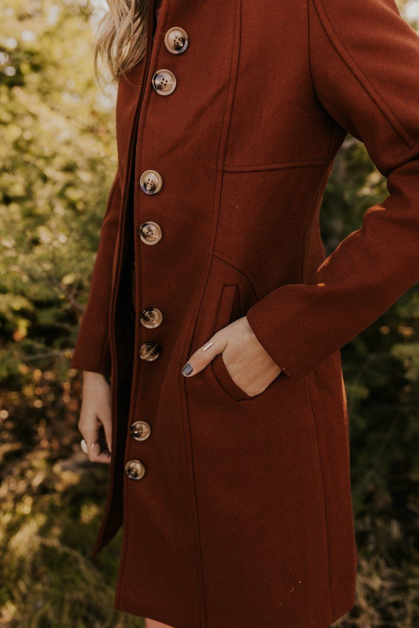 Longline Button Coat | ROOLEE