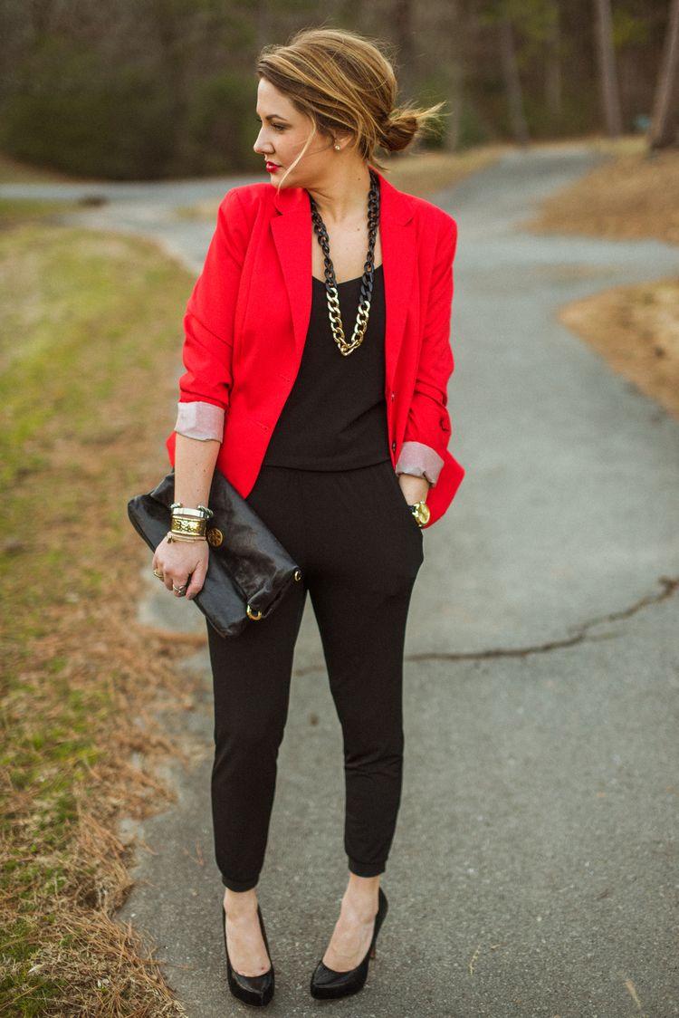 Love the red blazer