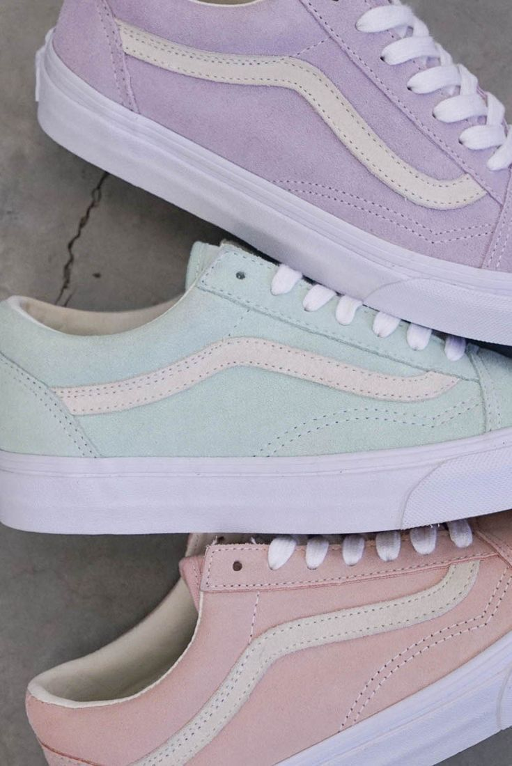 Love these pastel vans for spring and summer. – #chaussure #love #pastel #Spring
