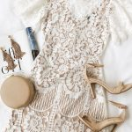 Lovely White Dress - Lace Dress - Short Sleeve Dress - Sheath