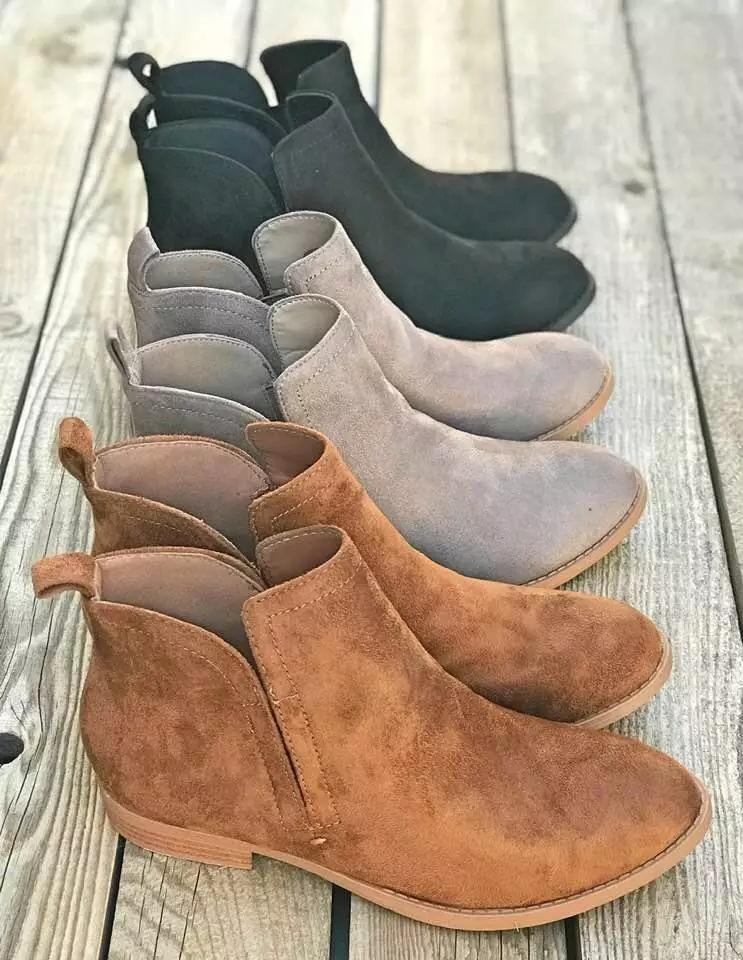 Low Heel Students Short Boots Women's Ankle Boots