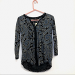 Lucky Brand Paisley Peasant Top Black and Blue NWT - NWT - Paisley design - Ruff...