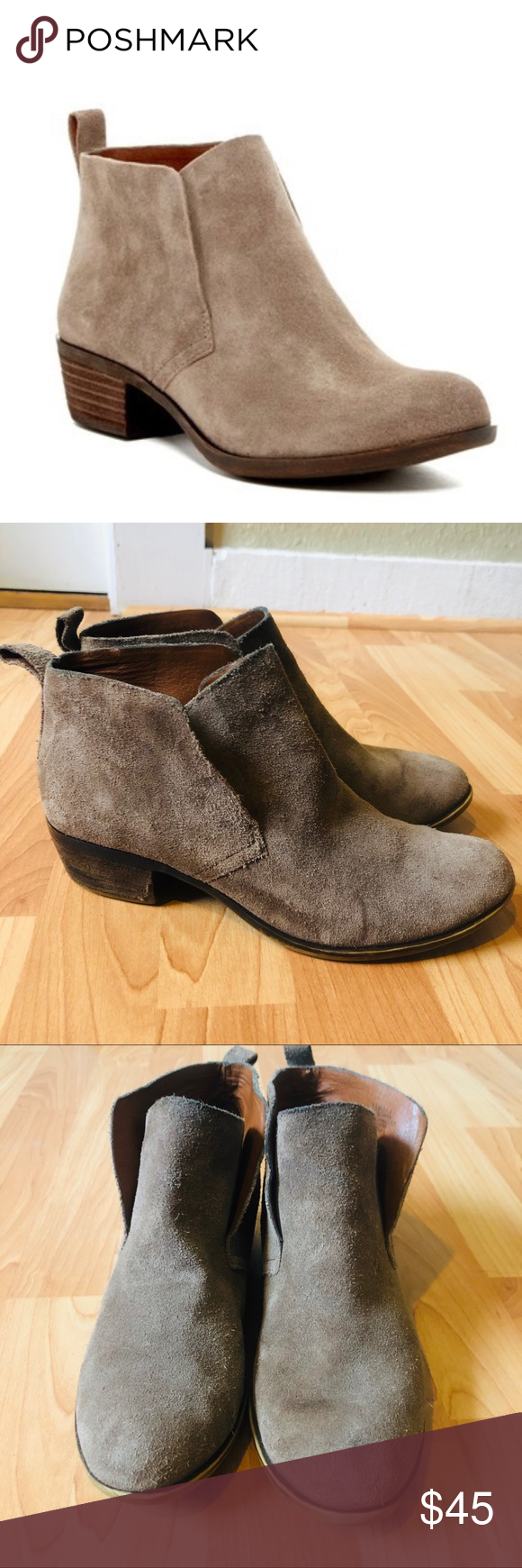 Lucky Brand suede Briana ankle booties Lucky Brand suede Briana ankle booties si…