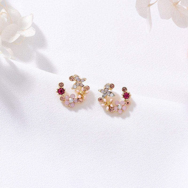 Luna Floral Stud Earrings