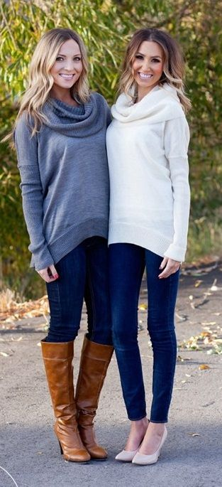 Lux Cowl Neck Sweaters