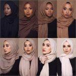 M MISM Ethnic Oversize Muslim Crinkle Hijab Head Scarf Women Solid Bubbleintothea
