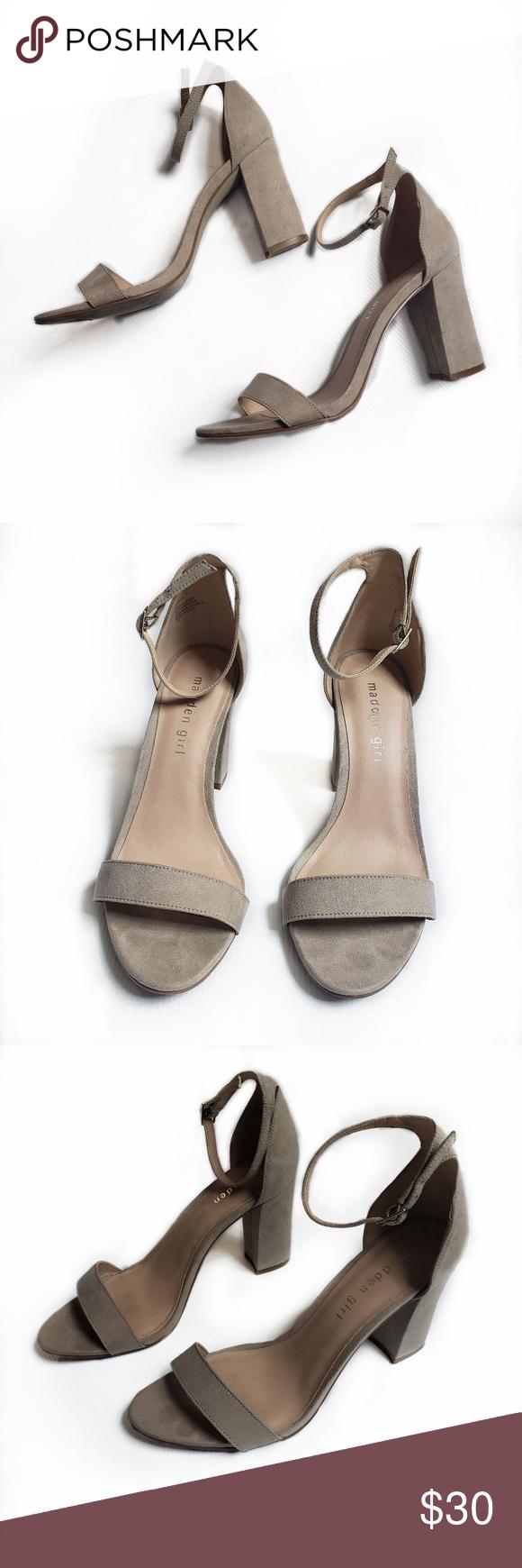 MADDEN GIRL | Beella Block Heel Sandal | 8 Size 8 Chunky heel Adjustable ankle s…