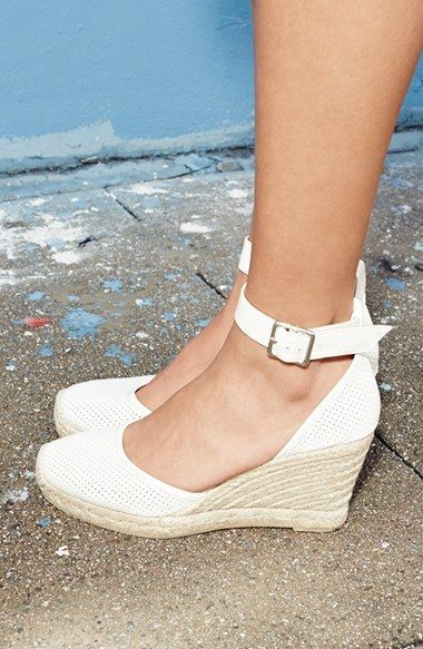 MARC BY MARC JACOBS 'Summer Breeze' Lambskin Leather Espadrille Wedge Sandal (Wo…