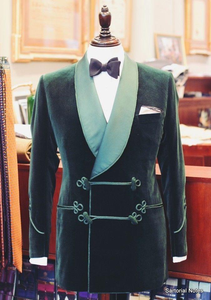MENS GREEN VELVET Smoking Jacket New Fashion Designer Evening Party Blazer Coats…