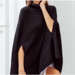 MYA turtle neck cape sweater one size Beautiful MYA black turtleneck cape sweate...