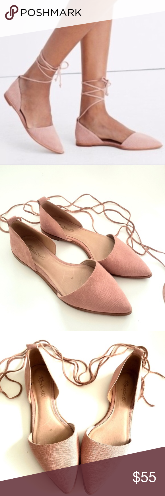 Madewell | Blush Pink Lace Up Flats Beautiful lace up Madewell flats  Size: 8 Co…