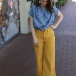 Madewell Emmett Windowpane Crop Wide Leg Pants, the art of versatility, yellow p...