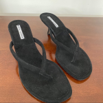 Manolo Blahnik Black paterno kitten heels 38.5 Manolo Blahnik Black paterno kitt...